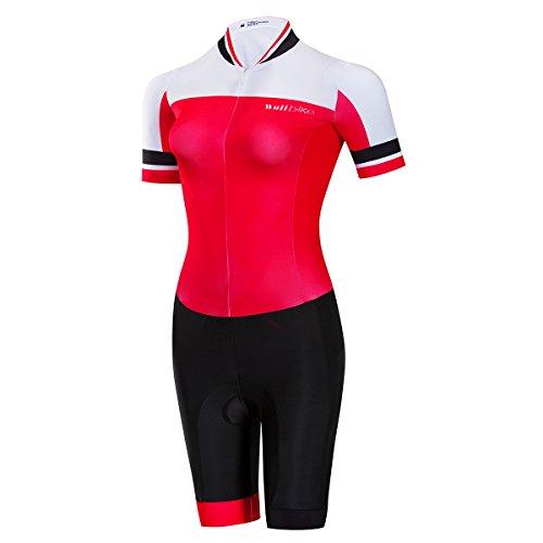 logas Combinaison Natation Triathlon Vetement Trifonction Manche Courte pour Femme