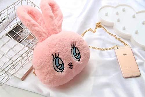 N / A Nooer Kawaii Cute Rabbit Plush Mochila Monedero