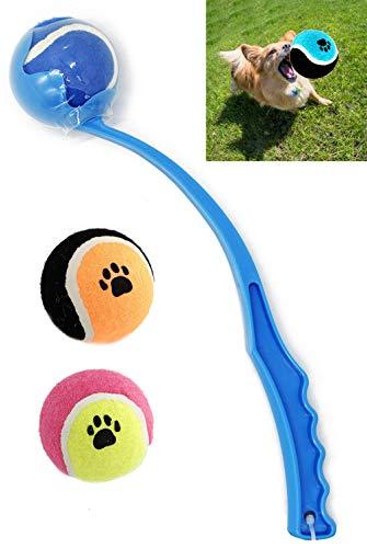 BPS Juguete Interactivo Lanzador de Pelotas para Perros Mascotas Más 2 Pelotas...