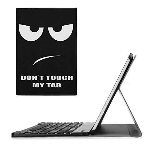 Fintie Bluetooth Tastatur Hülle kompatibel mit Samsung Galaxy Tab E 9.6 T560N / T561N Tablet-PC - Ultradünn Schutzhülle mit magnetisch abnehmbar drahtloser Bluetooth Tastatur, Don\'t Touch