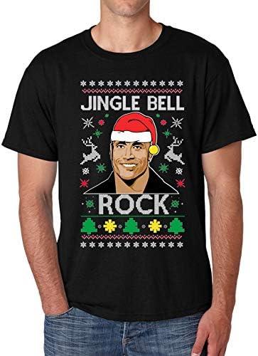 ALLNTRENDS Men s T Shirt Jingle Bell Rock Trendy Ugly Christmas Shirt Cool Xmas Gift M Black product image