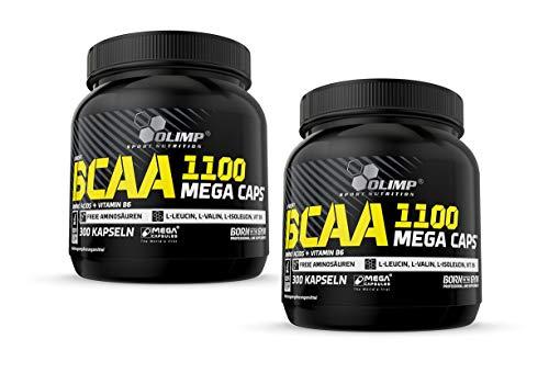 Olimp BCAA Mega Caps 1100, 600 Kapseln, 2er Pack (2 x 384 g)