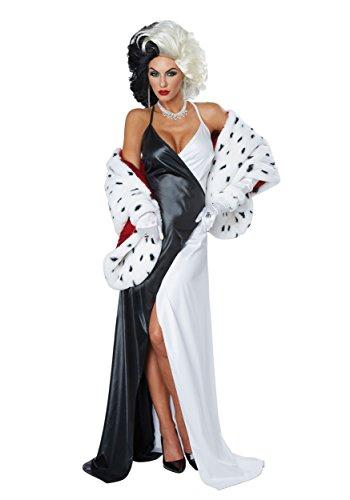 California Costumes Women's Cruel Diva/Adult, Black/White/RED, Medium