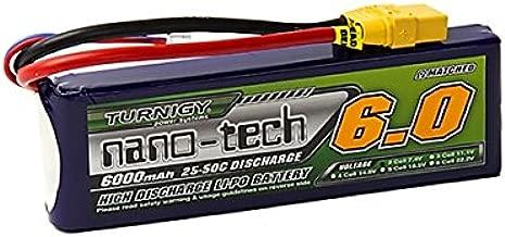 Turnigy Nano-tech 6000mah 2S 25~50C Lipo Pack w/XT-90