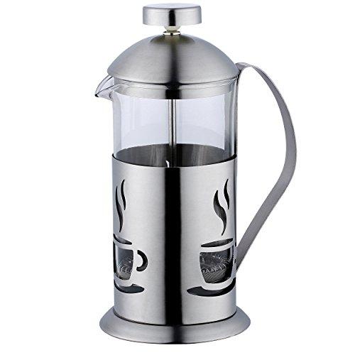 Renberg Smog - Caffettiere a pistone acciaio inossidabile inox 600 ml