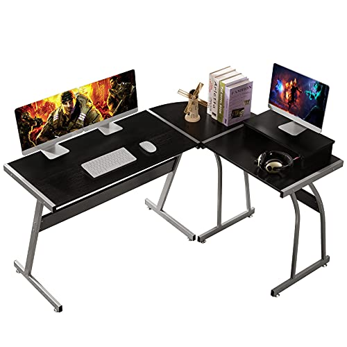 dosleeps L Shaped 58' Computer Corner Desk, Free Monitor Stand,...
