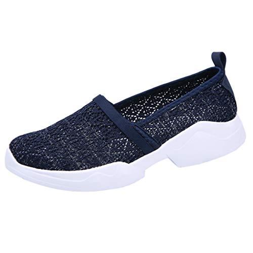 YWLINK Zapatos Moda Mujer TamañO Grande Al Aire Libre De Malla Zapatos Deportivos Casuales Runing Zapatos Transpirables Yoga De Ocio Ciclismo Zapatos De Playa Ejercicio Los Deportes(Azul,40EU)