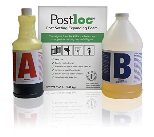 Postloc Post Setting Expanding Foam - 2-Post Kit - Easy-to-Use Concrete Alternative - No Tools Required