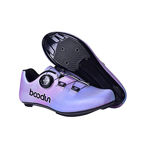 JINGJIE Zapatillas Spinning Mujer Ciclo De La Mujer Zapatos De Bloqueo Inferior De Desgaste De Nylon Resistente Antideslizantes Zapatos Transpirables De Bicicletas,37