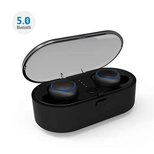 Abeyete Bluetooth Kopfhörer 5.0 Wireless Earbuds Stereo Deep Bass In-Ear-Kopfhörer Reichweite von 30m Echter kabelloser Kopfhörer mit Geräuschunterdrückung mit Mini Ladekästchen für iOS Android