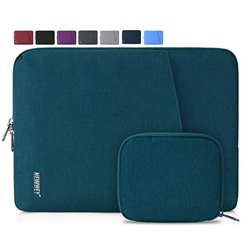 NEWHEY Laptophülle 14 Zoll Stoßfest Laptop Notebook Tasche Hülle Wasserdicht Schutzhülle Sleeve Case Kompatibel 13-14 mit Klein Fall Blaugrün