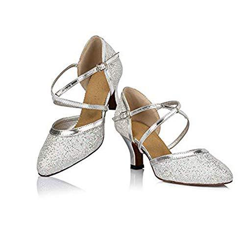 Damen Tanzschuhe Balboa Latein Salsa Rumba Tango Ballroom Schuhe Material Leder, 6cm