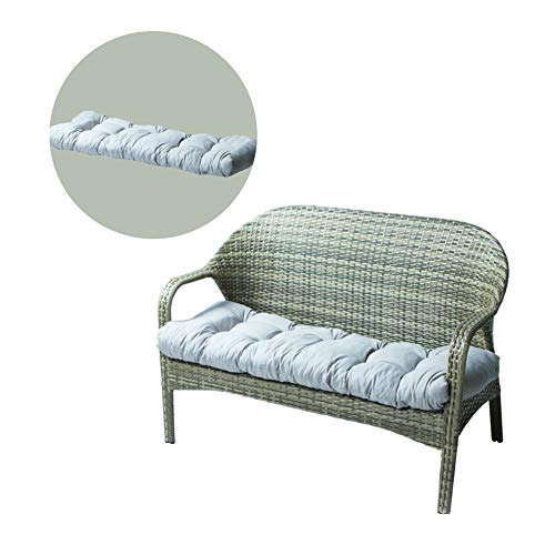 Cojín para asiento de sofá, cojín largo de jardín cepillado espesante, 100% fibra de poliéster, cómodo cojín de banco para oficina, hogar, asiento de suelo, 130 cm de color gris