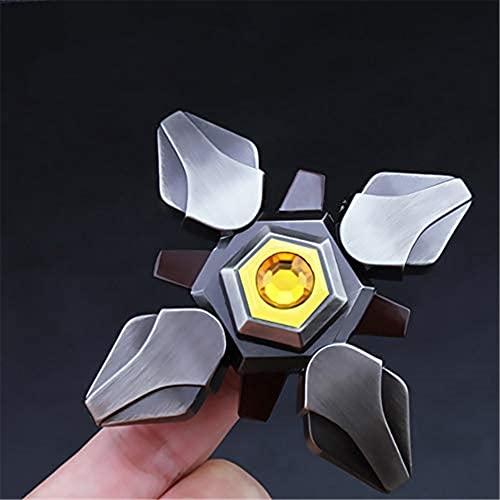 KLFJFD EDC TDAH Descompresión para Adultos Spinning Top Toy Cool King Game Peripheral Finger Top Juguete De Descompresión para Niños Regalo