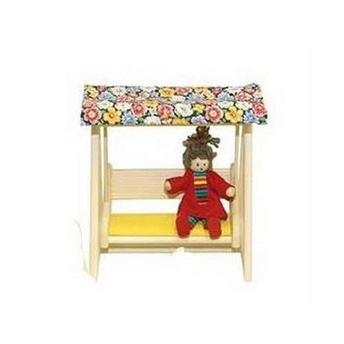 Rülke Holzspielzeug 22678 Puppenhauszubehör, holzfarben, gelb, Blumenmotiv