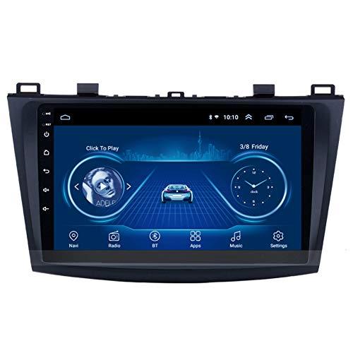 PLOKM 9 Pulgadas Android 8.1 Autoradio Radio para Coche Car Stereo GPS de Navegación Auto para Mazda 3 2006-2015 con WiFi Bluetooth Soporta Mirror Link Mandos de Volante