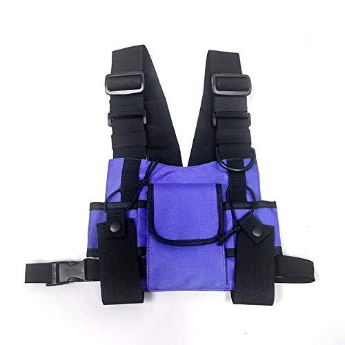 Poche Poitrine Poche Tactique Poitrine Plate-Forme Poche Poitrine Fonctionnelle Gilet Réglable Street Hip Hop Pack-Purple_Chest_Bag