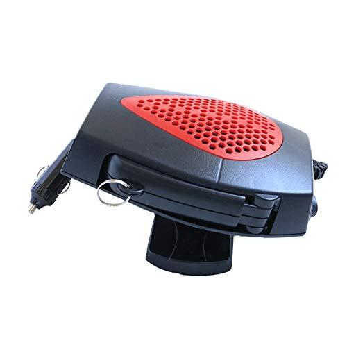 Yunhigh Ventilador de Calefactor portátil 12 v Que se enchufa en el Encendedor Cigarrillos Calentador rápido eléctrico desempañador automático Aire Parabrisas 150 W