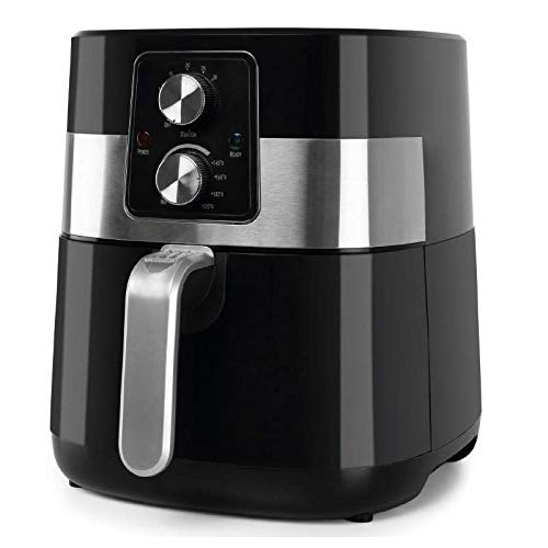 Orbegozo FDR 24 - Freidora sin aceite, 4 L de capacidad, temporizador, termostato regulable, cubeta apta para lavavajillas, 1300 W