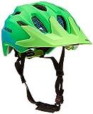 ALPINA Carapax JR. Flash Casco de Bicicleta, Unisex-Youth, Green-Blue, 51-56