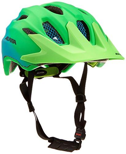 ALPINA CARAPAX JR. FLASH Fahrradhelm, Kinder, green-blue, 51-56