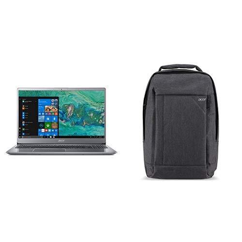 Acer Swift 3 SF315-52G-84LF Notebook con Processore Intel Core i7-8550U, RAM da 8 GB, 256 GB SSD, Scheda Video NVIDIA GeForce MX150 2 GB GDDR5, Display da 15.6' FHD, Silver + Zaino