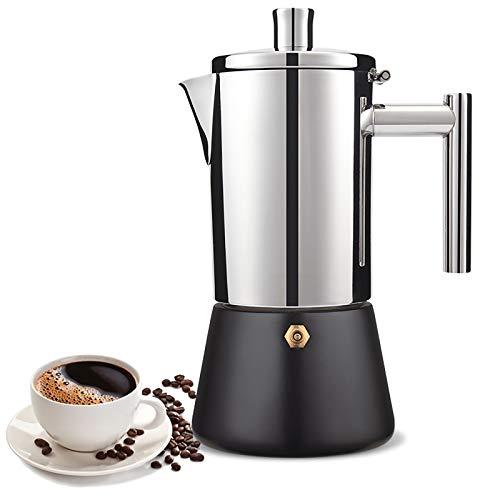 6 Tazas de Espresso de Acero Inoxidable, teflón Pintura de Alta Temperatura para Hornear Moka Olla, cafetera Cubana, para Gases de inducción o Estufas eléctricas