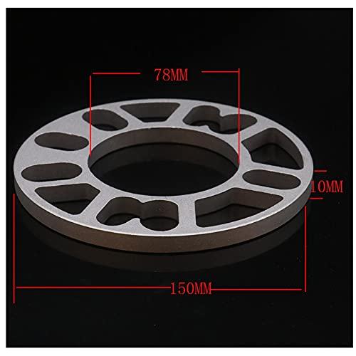 FeiL Store 2 unids 3mm / 5 mm / 8mm / 10 mm de aleación de aleación de aluminio espaciador de la rueda de la rueda de la placa de la placa para el hub de las ruedas de 4 orificios 4x98 4x100 4x108 4x1