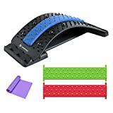 Sportout Bridge-shaped Lower Back Stretcher, Back Massager with Magnetic Acupressure Points, Lumbar Support Stretcher for Pain Relief, Chronic Herniated Disc, Sciatica Scoliosis Spinal
