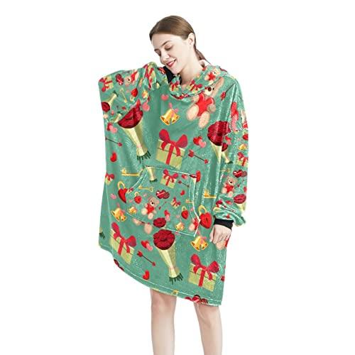 toile - Sudadera con capucha para hombre y mujer, manga larga, con bolsillos, talla única, Color-12, Talla única