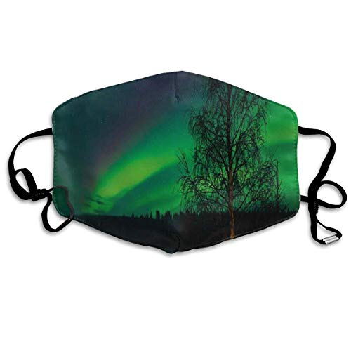 Camping Tent Under Magnetic Field Nature Picture Printing Safety Mouth Cover voor volwassenen