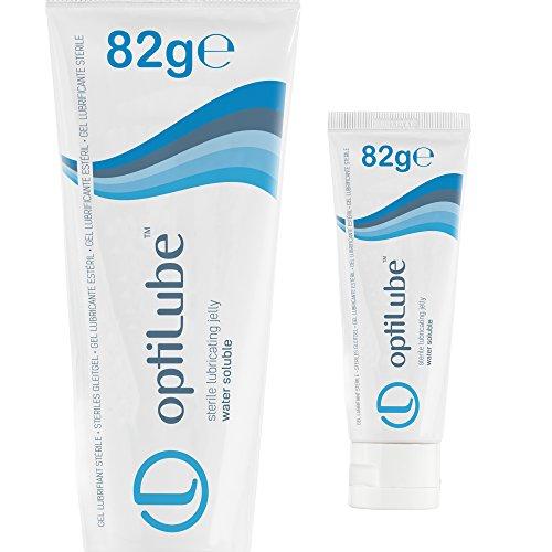 OptiLube Tuben - Steriles Gleitgel in 5g, 42g, 82g und 113g Tuben, wasserlöslich mit einfacher Klappkappe (82g Tube - Box von 1)