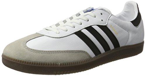 adidas Samba OG, Zapatillas Hombre, Blanco (Footwear White/Core Black/Gum), 44 2/3 EU