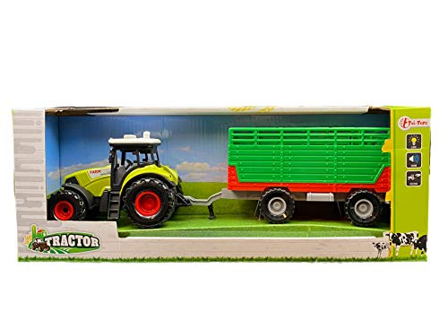Traktor mit großem Hänger zum...