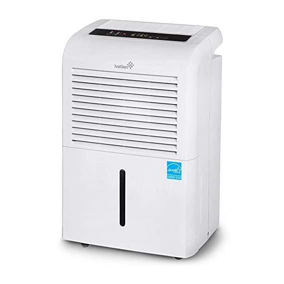 Ivation 4,500 sq ft energy star dehumidifier, large capacity compressor dehumidifier includes programmable humidistat… 1 this compressor dehumidifier keeps spaces up to 4,500 sq. Ft. Cool & comfortable by removing 50 pints of moisture/day (70 pint according to the old doe standards, in 2019 this was classified as 70 pint and it now needs to be classified as 50 pint but it removed the same moisture as the old 70 pint) built-in humidity sensor - the lcd accurately displays the current humidity level in the room, enabling you to set your ideal levels for automatic moisture control low maintenance & easy operation; simply plug-in, select settings & empty 2. 25 gallon reservoir