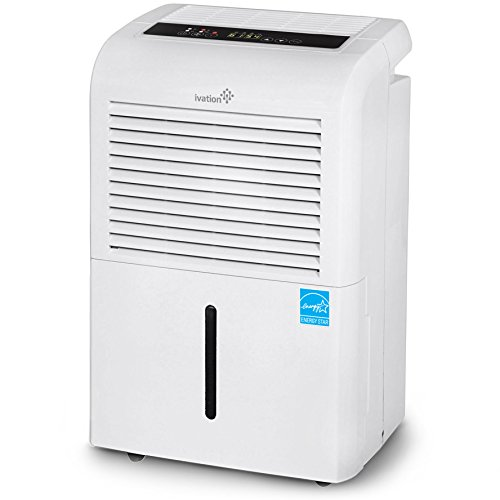 Ivation 4,500 Sq Ft Energy Star Dehumidifier, Large Capacity Compressor Dehumidifier Includes...
