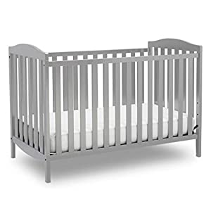 Delta Children Capri 3-in-1 Convertible Baby Crib, Grey