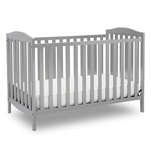 Delta Children Capri 3-in-1 Convertible Baby Crib, Grey