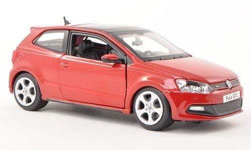 VW Polo V GTI, rouge, voiture miniature, Miniature déjà montée, Bburago 1:24