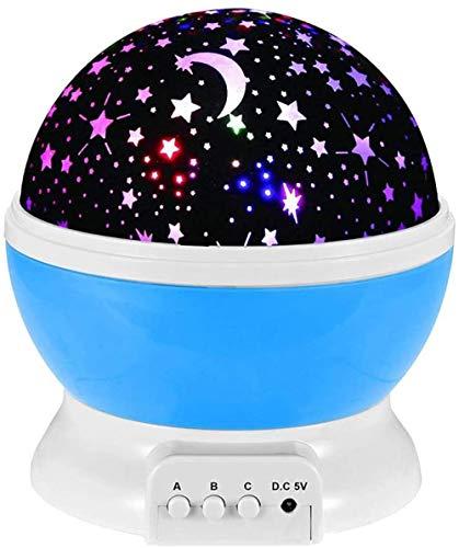 HUIQ Star Projector Light Baby Night Light Lámpara LED Star Light Project con 8 Colores y rotación de 360º Regalos de cumpleaños y Navidad para niños y Adultos Azul