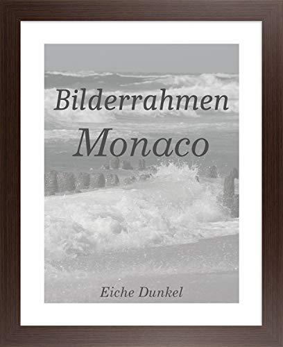 Homedeco-24 Monaco MDF Bilderrahmen ohne Rundungen 31 x 51 cm Größe wählbar 51 x 31 cm Eiche Dunkel mit Acrylglas Antireflex 1 mm
