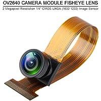 Innovateking-EU OV2640 módulo de cámara de ojo de pez, lente extendida, resolución de 2 megapíxeles, compatible con sensor de imagen YUV RGB JPEG para ESP32 Cam T-Camera Plus ESP32-DOWDQ6 8 MB SPRAM