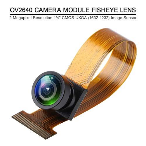 Innovateking-EU ESP32 Camera Module T-Camera Kamera modul ESP32 WROVER PSRAM 4MBytes SPRAM ESP32-WROVER-B OV2640 mit 0,96 Zoll OLED Fischaugen Objektiv für arduino (Fisheye Objektiv Langes)