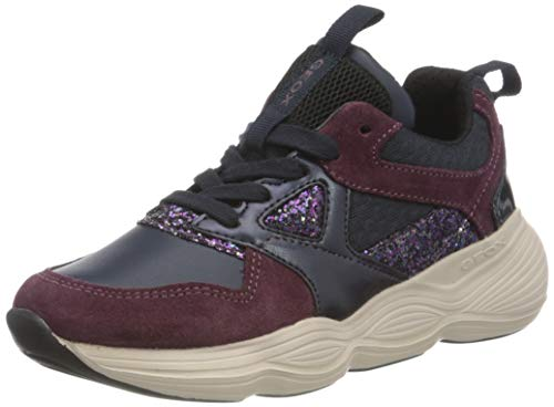 Geox J BUBBLEX Girl B, Sneaker para Niñas, (Navy/Prune), 31 EU