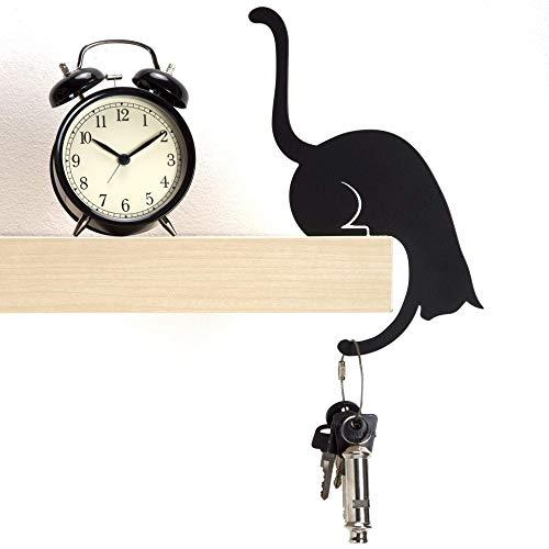 Artori Design 'La Garra de Louis' | Colgador - Gato metálico en Color Negro | Colgador Decorativo | Colgador de Gancho