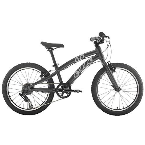 OLLO Bikes® - Kinderfahrrad 20 Zoll für Jungen und Mädchen von 6-8 Jahren - nur 9,0 kg / 8-Gang Schaltung - Engineered in Germany: Top-Qualität, Alu-Rahmen, hochwertige Komponenten (Schwarz)