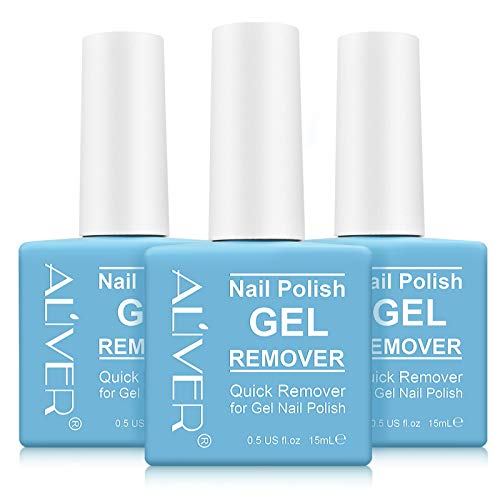 (3 PACK) Nail Polish Remover, Professional Remove Gel Nail Polish Within 3-6 Minutes - Quick & Easy - No Need For Foil, Soaking Or Wrapping
