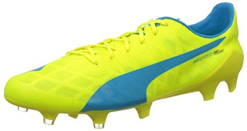 Puma Herren evoSPEED SL FG Fußballschuhe, Gelb (safety yellow-atomic blue-white 05), 46 EU