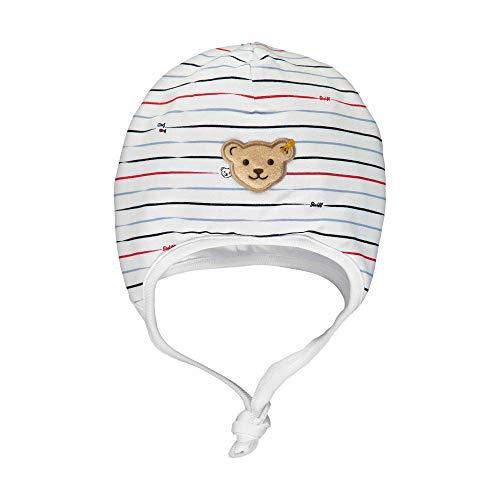 Steiff Baby-Jungen Mütze, Weiß (Bright White 1000), 39 (Herstellergröße: 039)