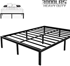 NOAH MEGATRON Heavy Duty King Platform Bed Frame,Slatted Bed Base 14 Inch Mattress Foundation Bed Frame,12 Inch Under-Bed Storage,No Box Spring Needed (King)